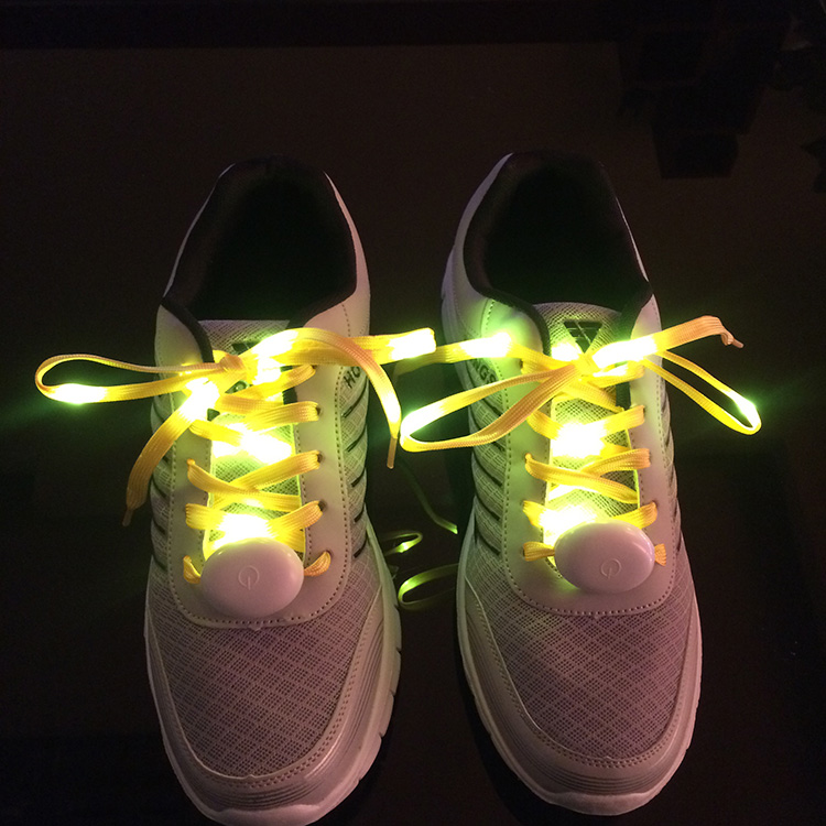 2019 hot sale manufacturer water proof nylon LED flashing light shoelace for sport shoes